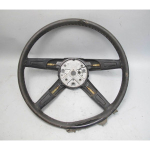 1974-1976 BMW 114 2002 2002tii 400mm 4 Spoke Steering Wheel w Cracks OEM - 19337