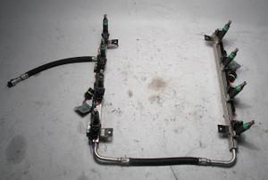 BMW N62 4.4L V8 Fuel Rail Tubes Lines and Injectors 2004-2005 OEM E60 E64 E65 - 5891
