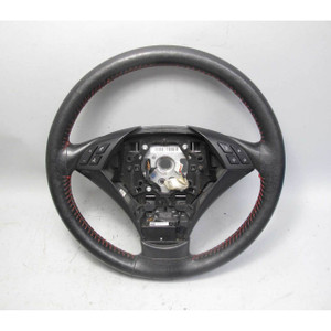2004-2005 BMW E60 5-Series Sedan Leather Steering Wheel with Aftermarket Cover - 19412