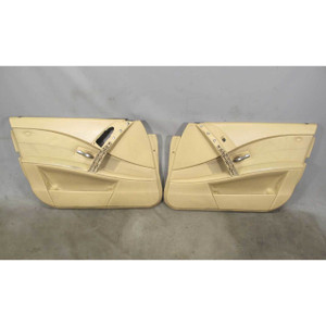 2004-2007 BMW E60 E61 5-Series Early Front Interior Door Panel Trim Skin Beige - 19429