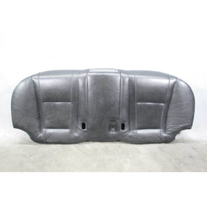 2002-2008 BMW E65 E66 7-Series Rear Seat Bottom Pad Black Leather Cup Holder OEM - 19751