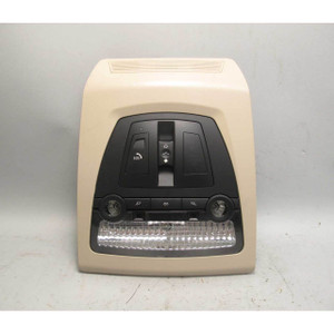 2009-2011 BMW 5-Series 7-Series Front Roof Map Light Switch Unit Sunroof Beige - 19780