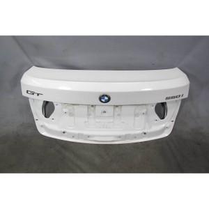 2010-2013 BMW F07 5-Series Rear Lower Trunk Lid Hatch Panel Alpine White OEM - 19860