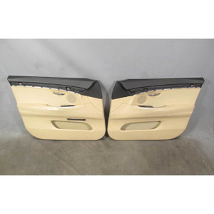 2010-2017 BMW F07 5-Series Gran Turismo GT Front Int Door Panels Beige Leather - 19867