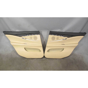 2010-2017 BMW F07 5-Series Gran Turismo GT Rear Int Door Panels Beige Leather - 19868