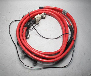 BMW E60 M5 ///M Positive Red Under-Car Battery Cable w Terminals 2006-2010 OEM - 8356
