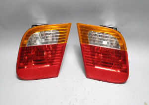 BMW E46 3-Series Sedan 4door Rear Inner Trunk Lid Tail Light Pair 2002-2006 USED - 9558