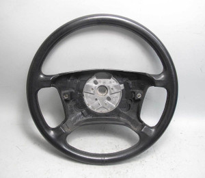 BMW E39 5-Series E38 Factory Standard Leather Steering Wheel Black 1999-2003 OEM - 20408