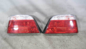 1999-2001 BMW E38 7-Series Aftermarket Rear Tail Light Pair w White Lens Late - 20421