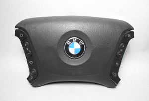 BMW E39 5-Series Steering Wheel Airbag Module Multifunction Buttons Late Model - 7944