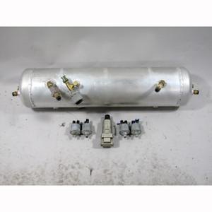 Air Ride Suspension Tank w/ Pressure Sensors and Regulator 3 Gallon 10 Port USED - 20511