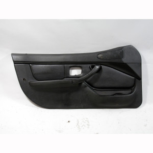 BMW Z3 Roadster Coupe Drivers Left Interior Door Trim Panel w SRS Black Leather - 20542