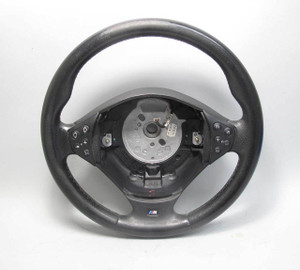 2000-2001 BMW E39 5-Series E38 ///M Sports Leather Steering Wheel Multifunction - 20574