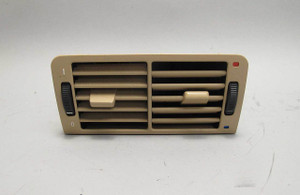BMW E38 7-Series Rear Center Console Fresh Air Vent Sand Beige 1995-2001 USED OE - 14713