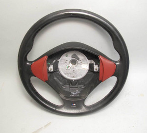 1997-1999 BMW E36 3-Series Z3 Factory M Sports Steering Wheel Red USED OEM - 20630