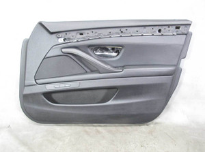 11-16 BMW F10 5-Series Right Front Int Door Panel Trim Skin Pair Black Leather - 20690