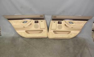 1995-2001 BMW E38 7-Series 750 V12 Rear Interior Door Panel Trim Skin Sand Beige - 20691