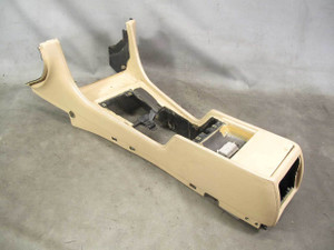1995-2001 BMW E38 7-Series Leather Front Center Console Sand Beige Trim OEM - 20721