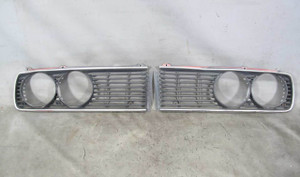 1977-1981 BMW E12 5-Series Late Model Front Headlight Grille Pair Left Right OEM - 20807