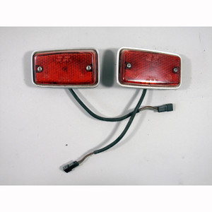 1977-1983 BMW E12 E21 E24 6-Series Red Rear Side Marker Light Pair Genuine OEM - 20820
