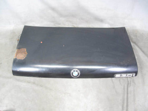 1975-1981 BMW E12 5-Series Rear Trunk Deck Boot Lid Panel Cover Black 528i 530i - 20838
