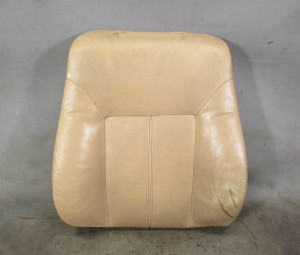 99-03 BMW E38 E39 Comfort Seat Back Sand Beige Leather Backrest Cushion Heated - 20886