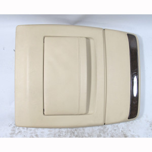 1995-01 BMW E38 750iL Beige Full Leather Comfort Seat Back Panel Pocket w Wood - 20931