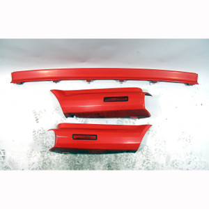 1987-1990 BMW E30 325i Convertible Painted Rear Bumper Trim Set Brilliant Red OE - 20941