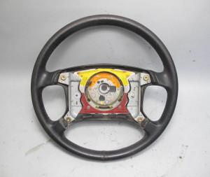 BMW E30 3-Series Late Model Leather Steering Wheel for Airbag 1988-1993 USED OEM - 20950