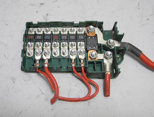E39 Boot Fuse Box : Bmw e series trunk fuse box bus bar power junction