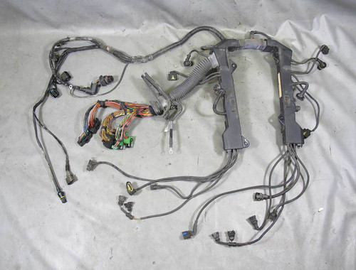 BMW E65 E66 745i 745iL N62 V8 Engine Wiring Harness w Broken