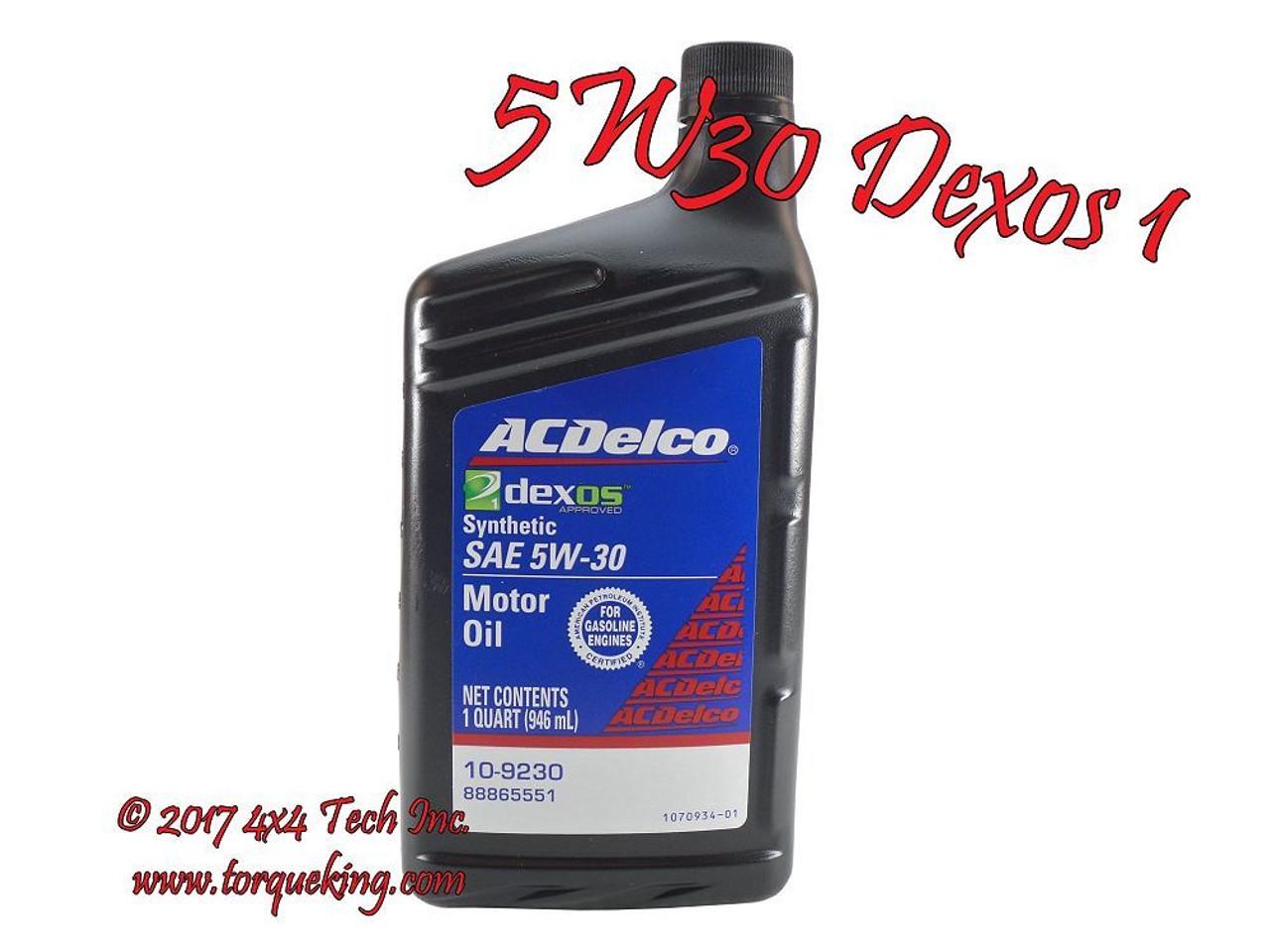 Transtar Transmission Parts >> AC Delco 10-9246 Dexos1 5w30 Engine Oil GM 88865991 1 ...