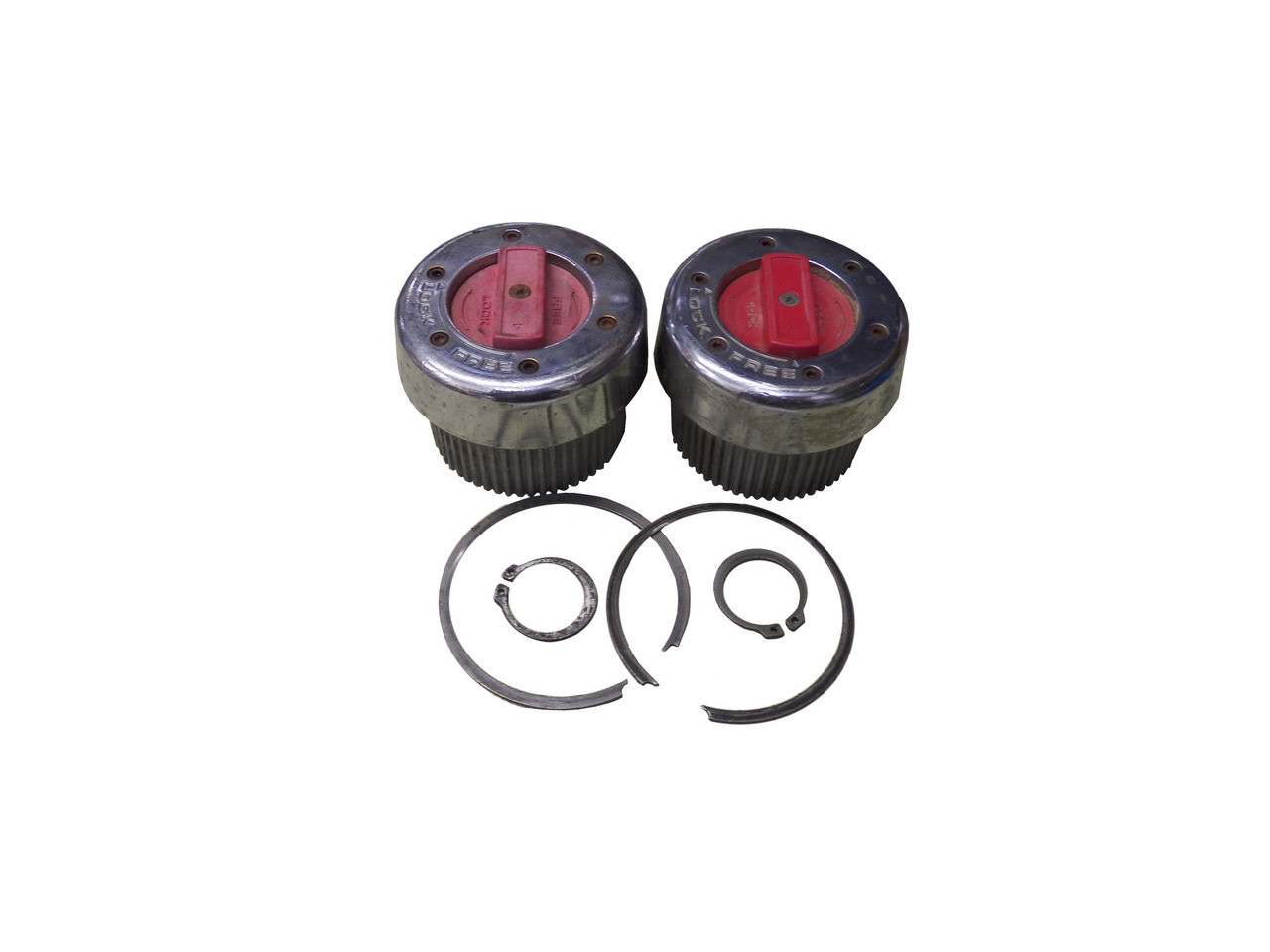 Used Warn Plastic Dial Manual Lockout Hub Set For Dana 50 60 Front Axles 300 Exploded View Diagram The Is Found In 19801986 Jeep Qu56011u Internal Splined Wheel Hubs