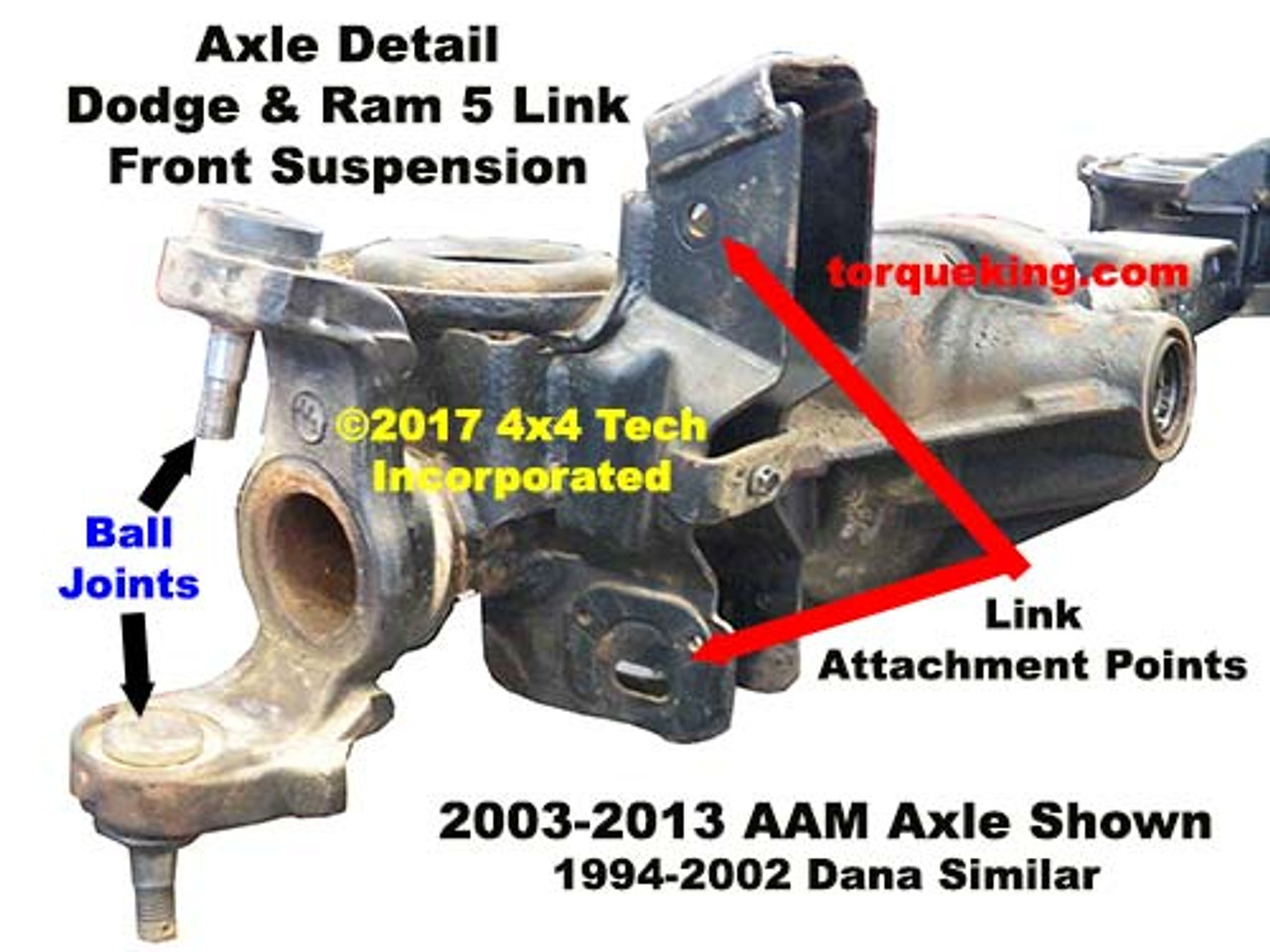 Dodge Aam Left Axle Beam Detail on 1994 Chevy Front Differential Diagram