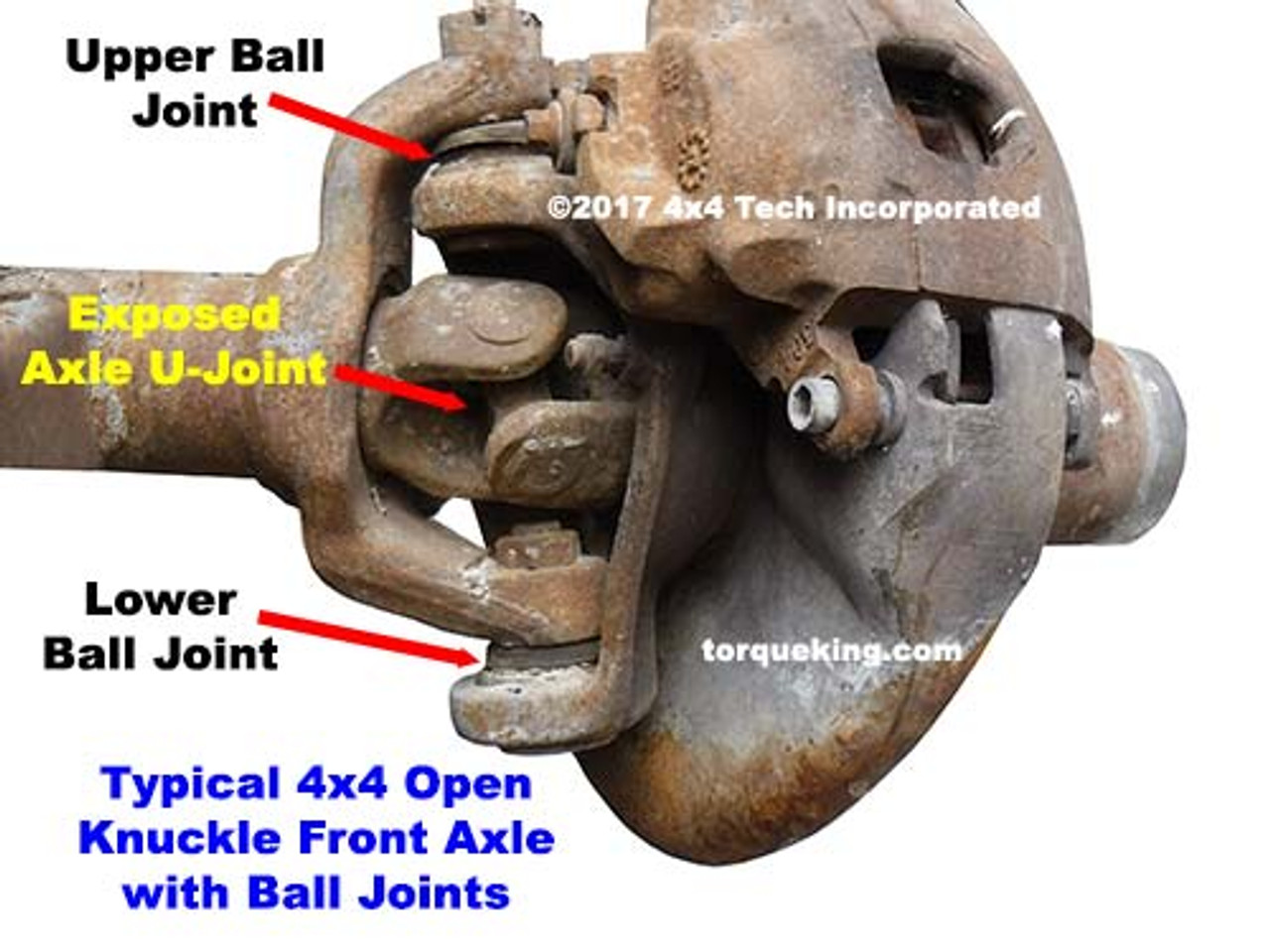 Ball Joint Type Open Knuckle Front Axle