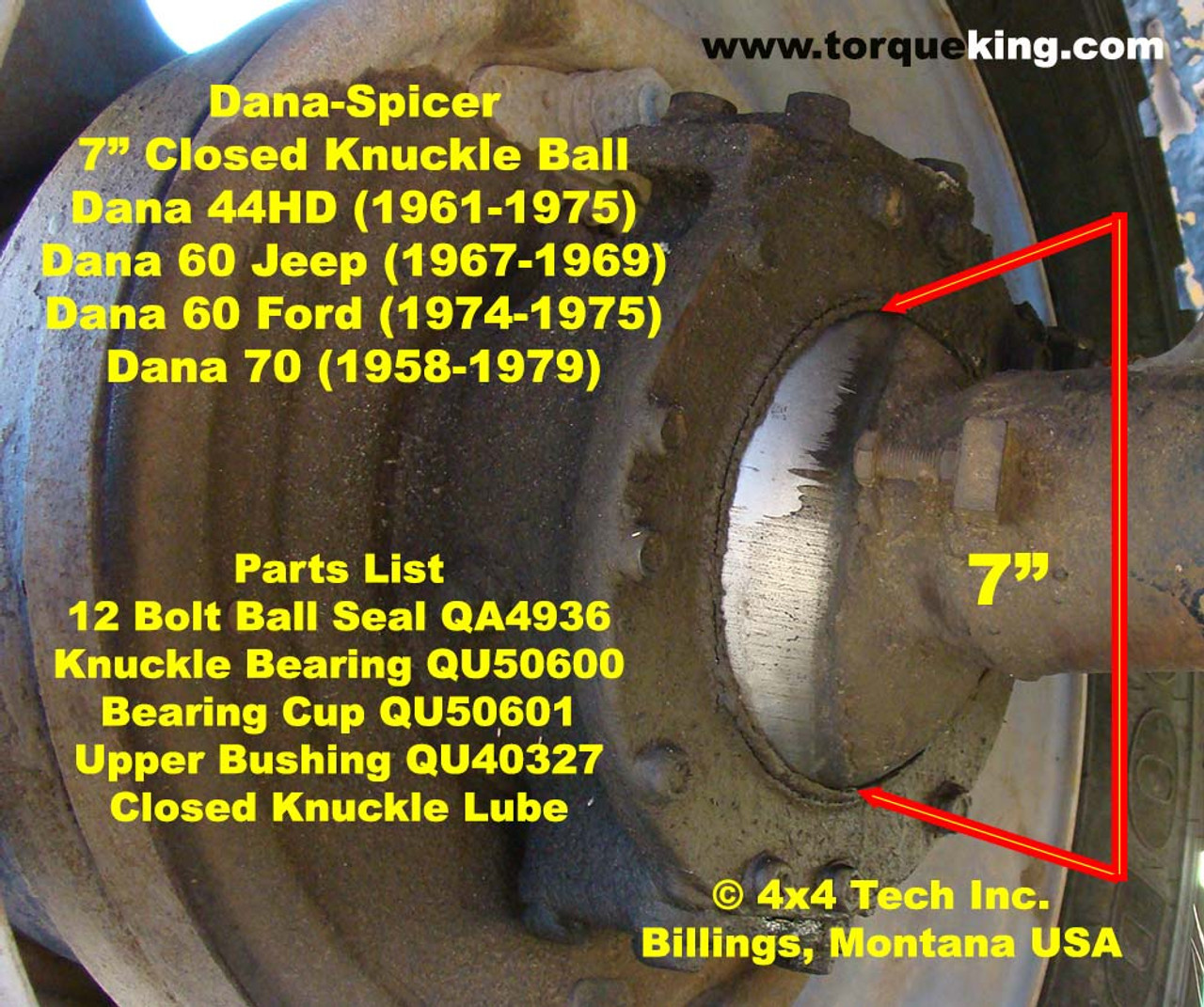 How Do I Id My Ford Dana 60 Closed Knuckle Front Axle 1969 F 250 Highboy 4x4 1974 1975 F250 Hemisphere Ball