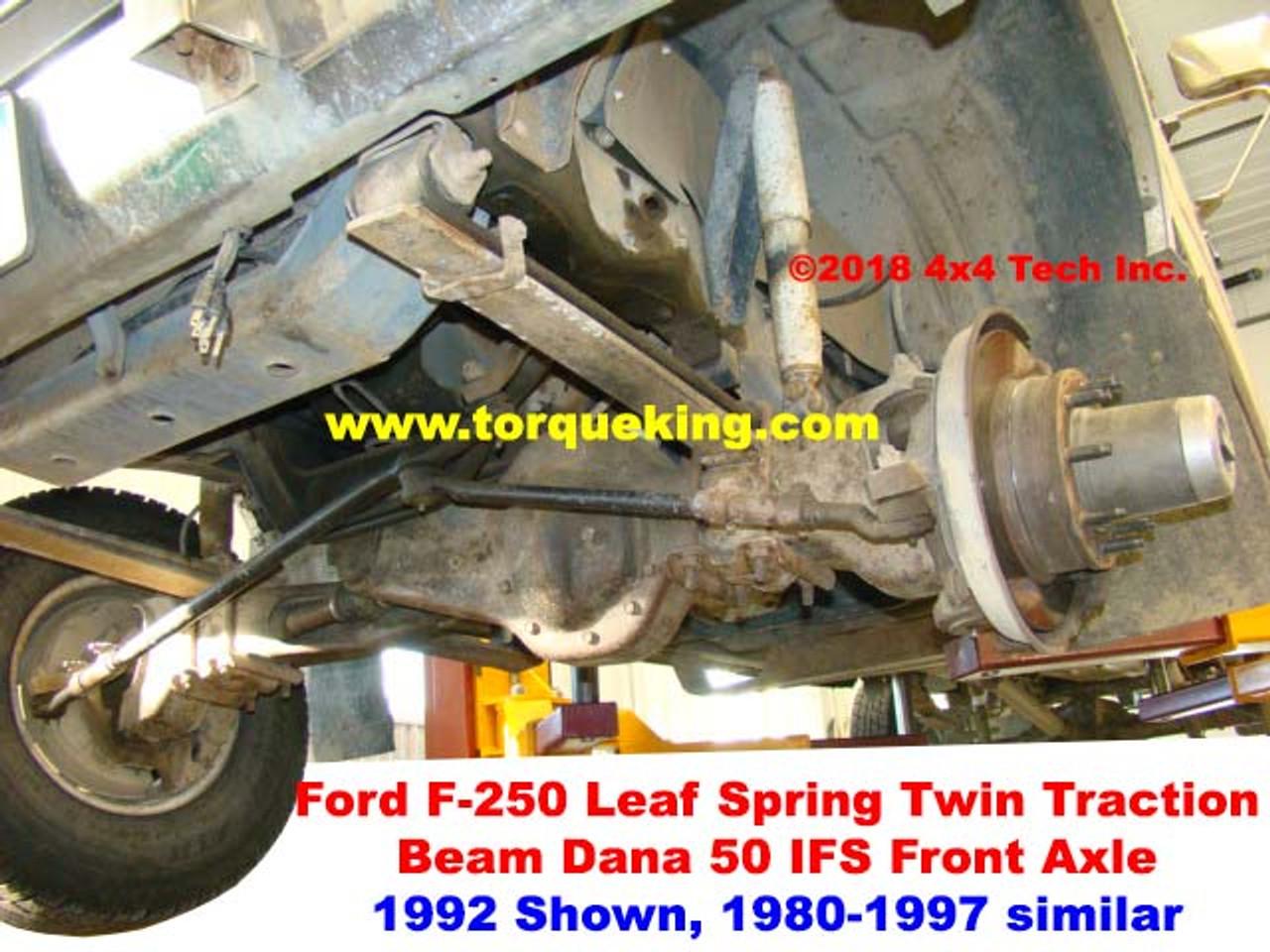 1980 1997 ford dana 50 ifs front axle id rh torqueking com Ford F-250 Front Axle Identification Ford F-250 Front Axle Diagram