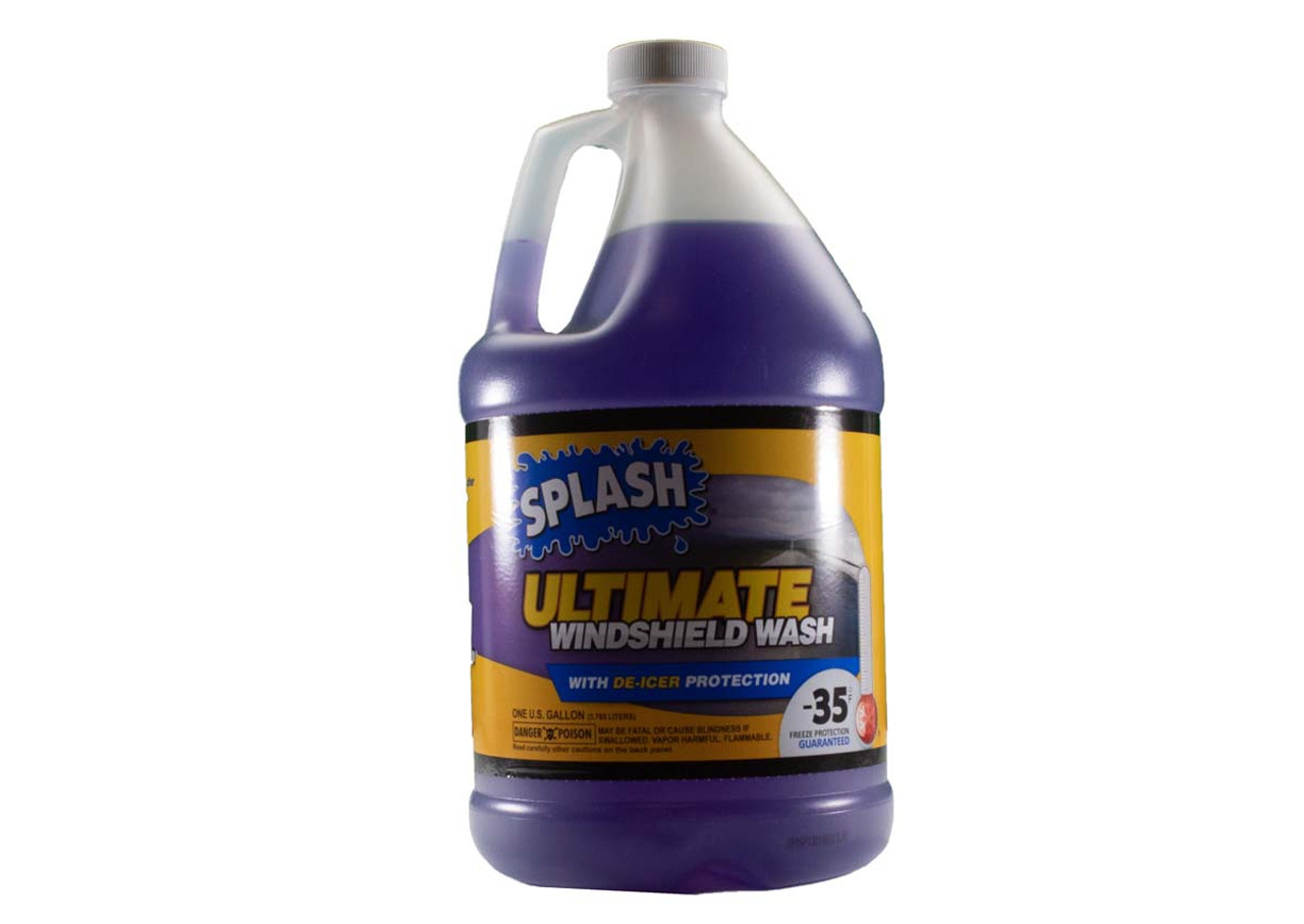 QU90041 Seasonal SPLASH® 1 gallon Ultimate Windshield Wash with -35 Freeze/De-Icer Protection