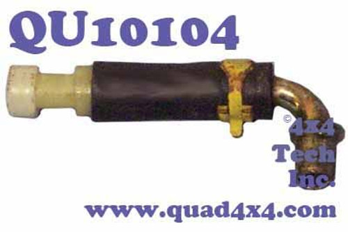 Vent and Hose Assembly for Transmissions and Transfer Cases QU10104