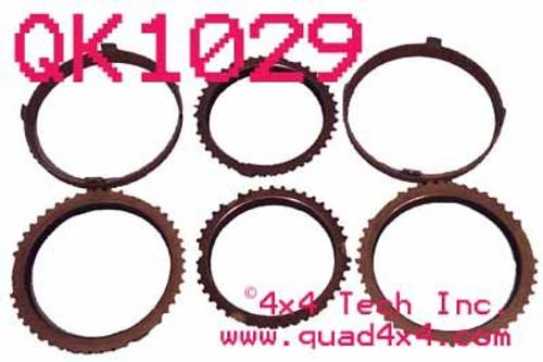 QK1029 NV4500 6 Piece Synchronizer Friction Ring Set