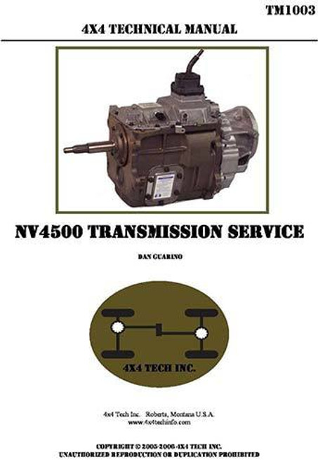 NV4500 Rebuild and Shop Manual for New Venture NV4500 5 Speed Transmissions in Chevy, Dodge, GMC, Ram, and conversion applications.