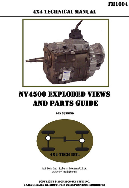 TM1004P NV4500 Exploded View and Parts Guide