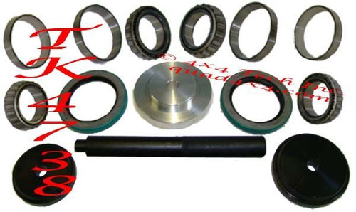 Torque King Dana 50IFS, 60, 61 Front Wheel Bearing and Seal Kit with Install Tools. TK4738