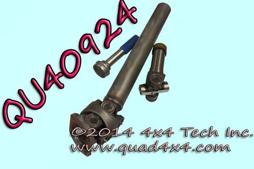 QU40924 1350 Series Unfinished HD Greaseable CV Shaft Assembly