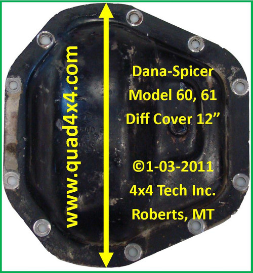Dana 60 Front Axle Specs 1994-1999 Dodge Ram 2500, 3500 IDN-102
