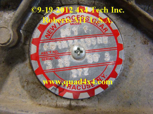 Ford New Venture Build Tag IDN-103