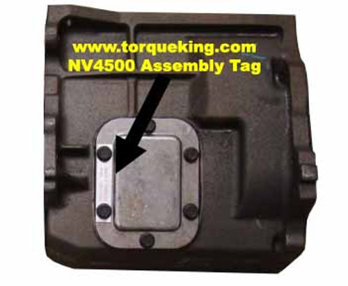 NV4500 Build Tags for Chevy, Dodge, GMC, and Ram IDN-108