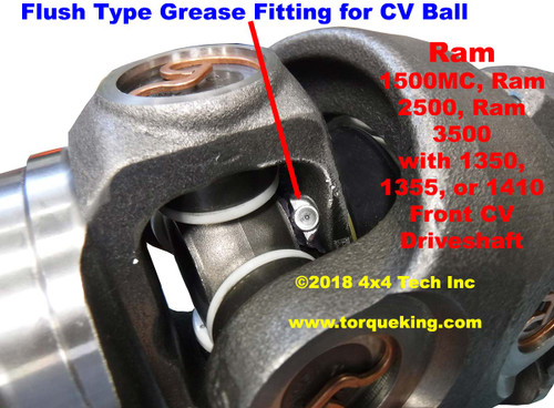 Ram 4x4 Greaseable Front Double Cardan CV Joint