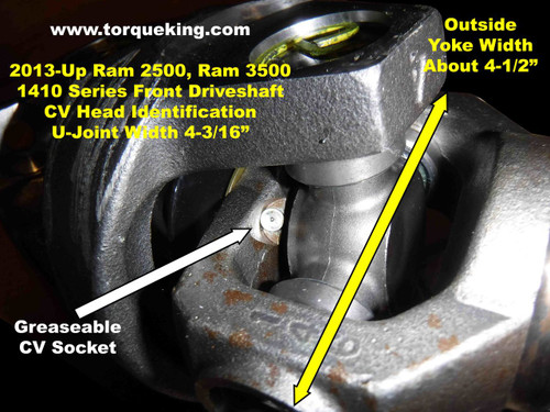 2013-2018 Ram 2500, Ram 3500 1410 Series Front driveshaft ID