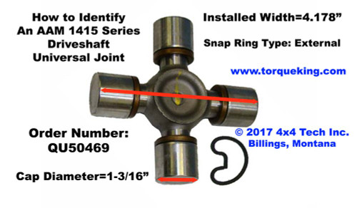 AAm 1415 Series U-Joint ID